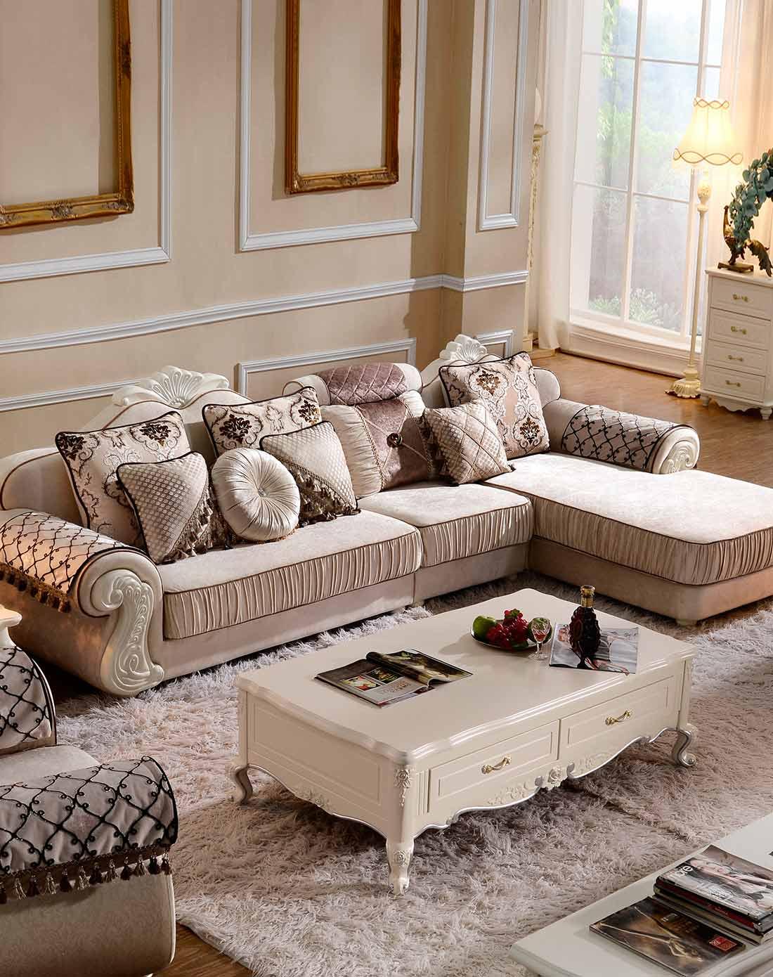 简约欧式沙发组合布艺 下单选贵妃