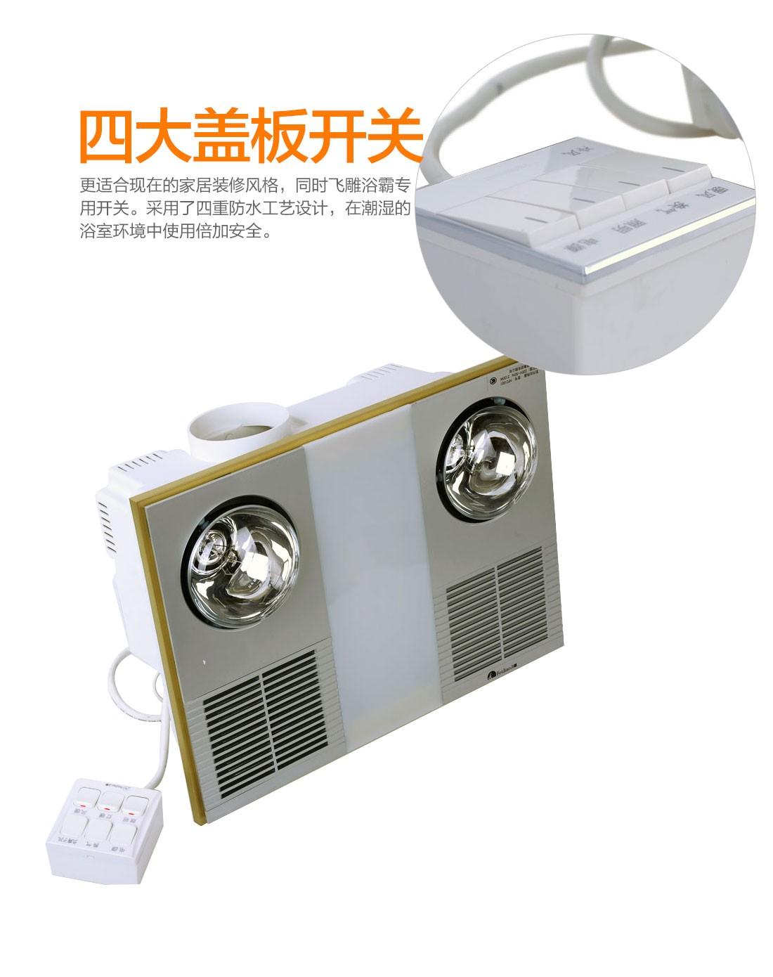 风暖型浴霸 天花板安装式风暖四合一