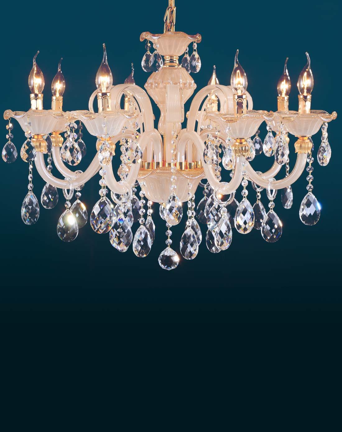 欧塞洛斯osairous灯饰专场欧式水晶10头吊灯 简约水晶