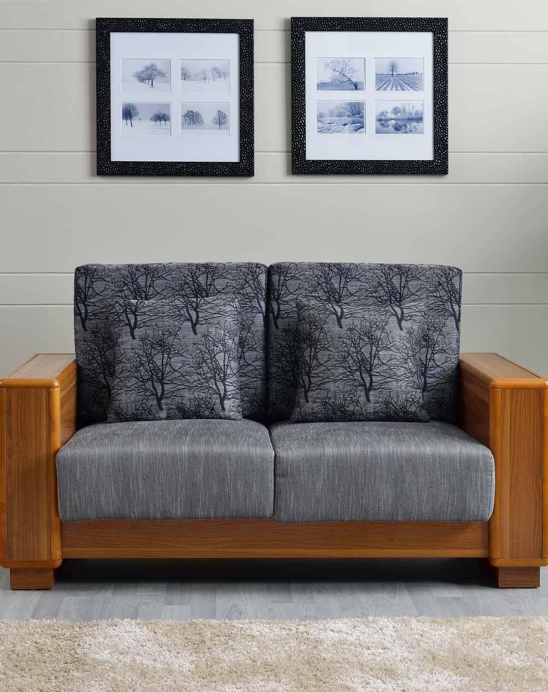 精品橡木 客厅经典 休闲布艺沙发 双人位