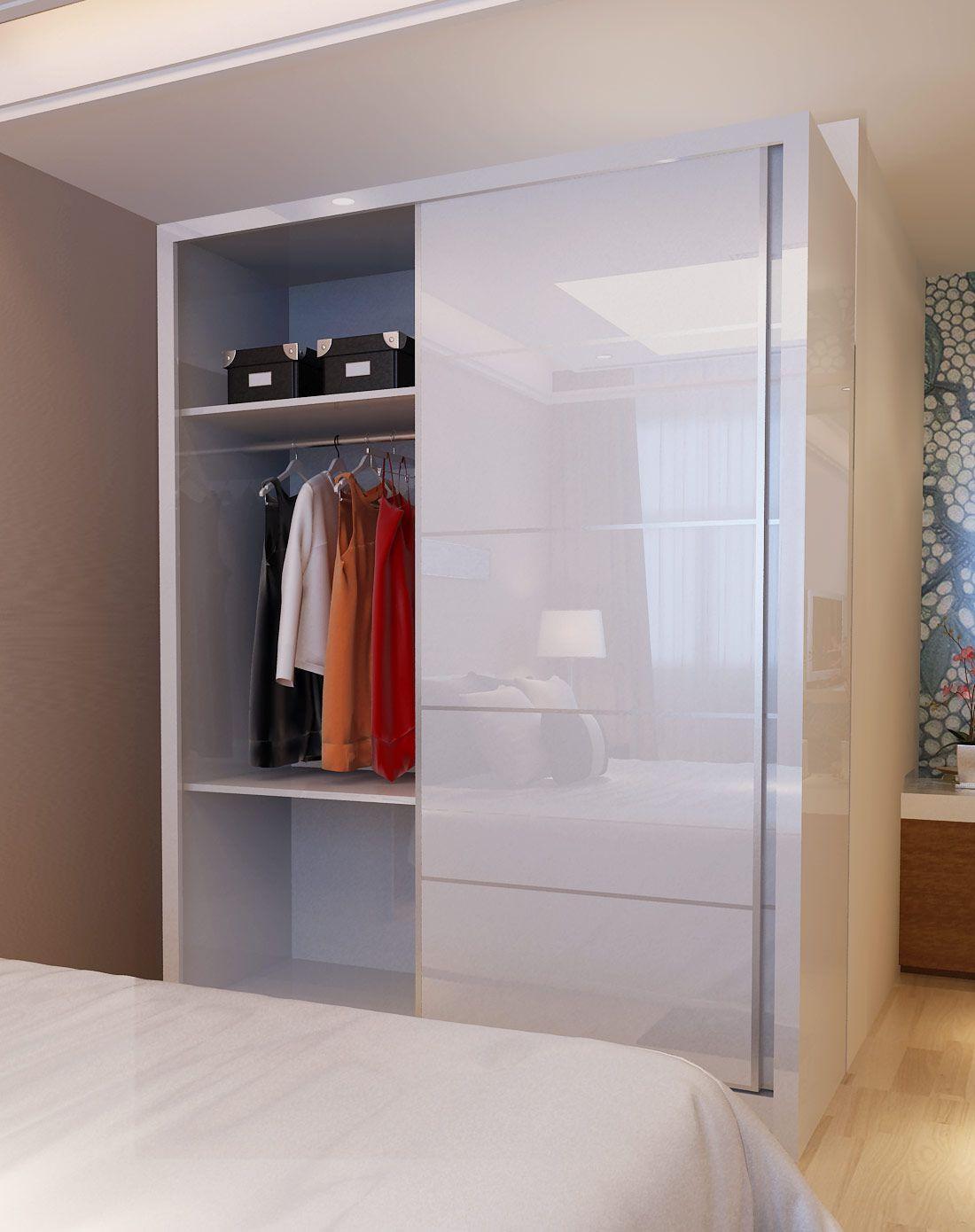 时尚简约推拉门衣柜 1.6米