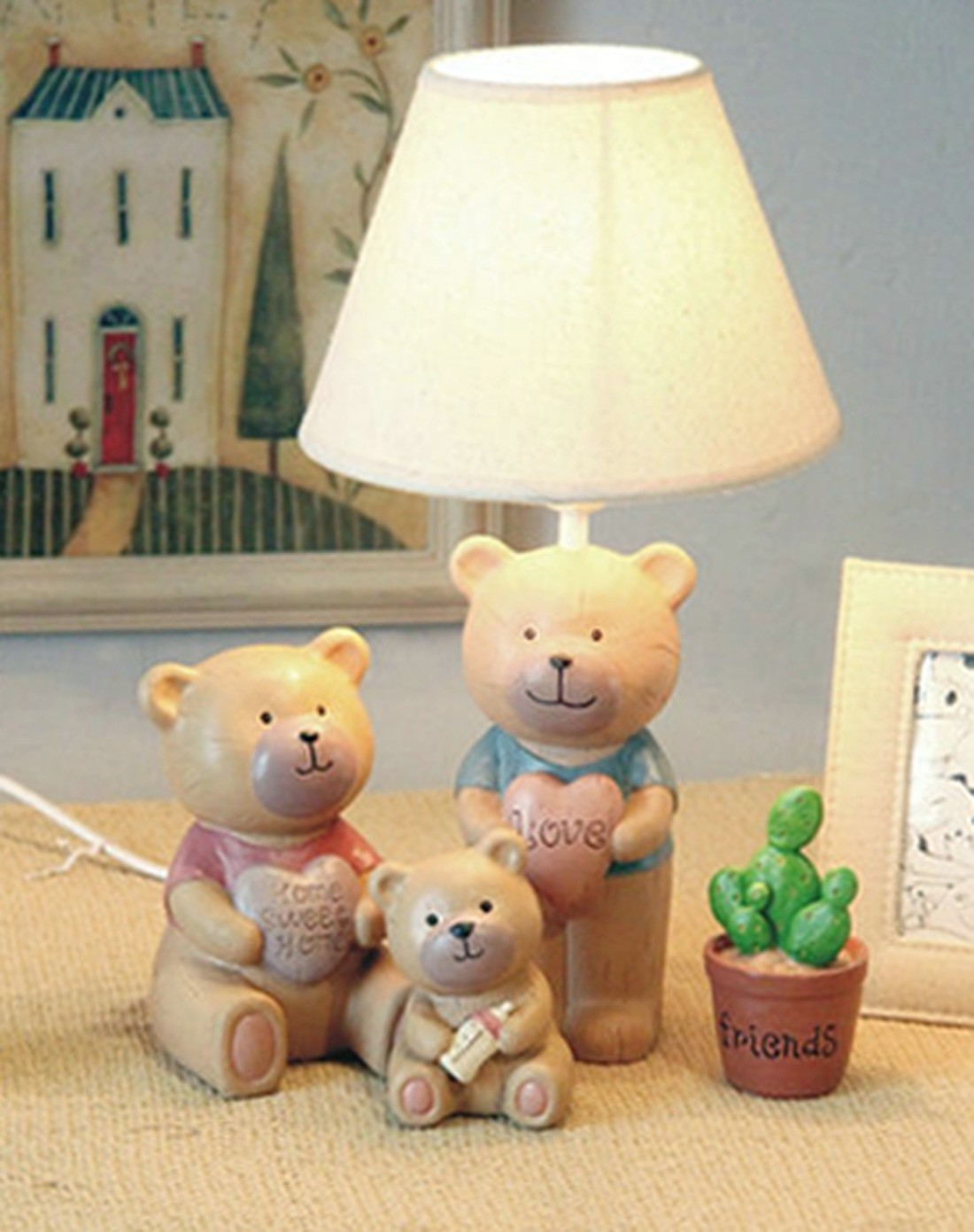 一家三口小熊儿童创意台灯三件装