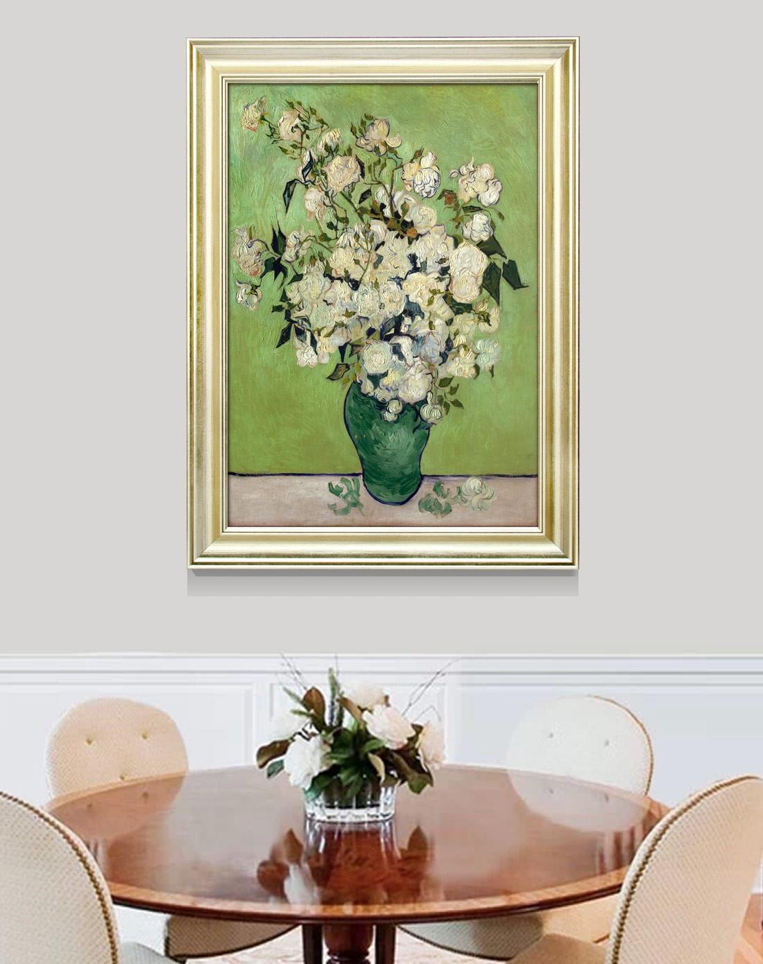 柠檬树家居装饰专场高清画芯装饰画 梵高白玫瑰k3