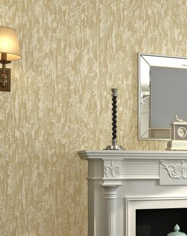 米灰色3d立体硅藻泥素色简约卧室客厅墙纸