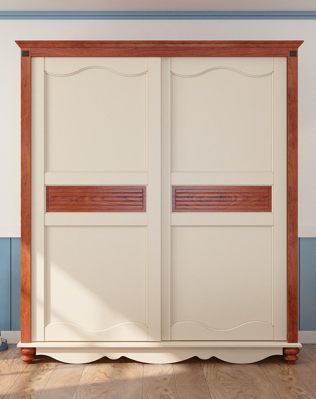 地中海风格趟门衣柜