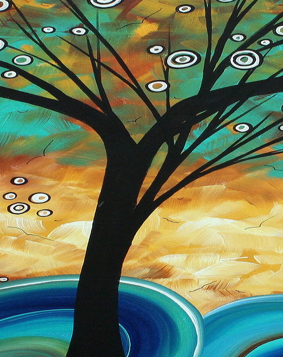 抽象艺术装饰画 星空发财树