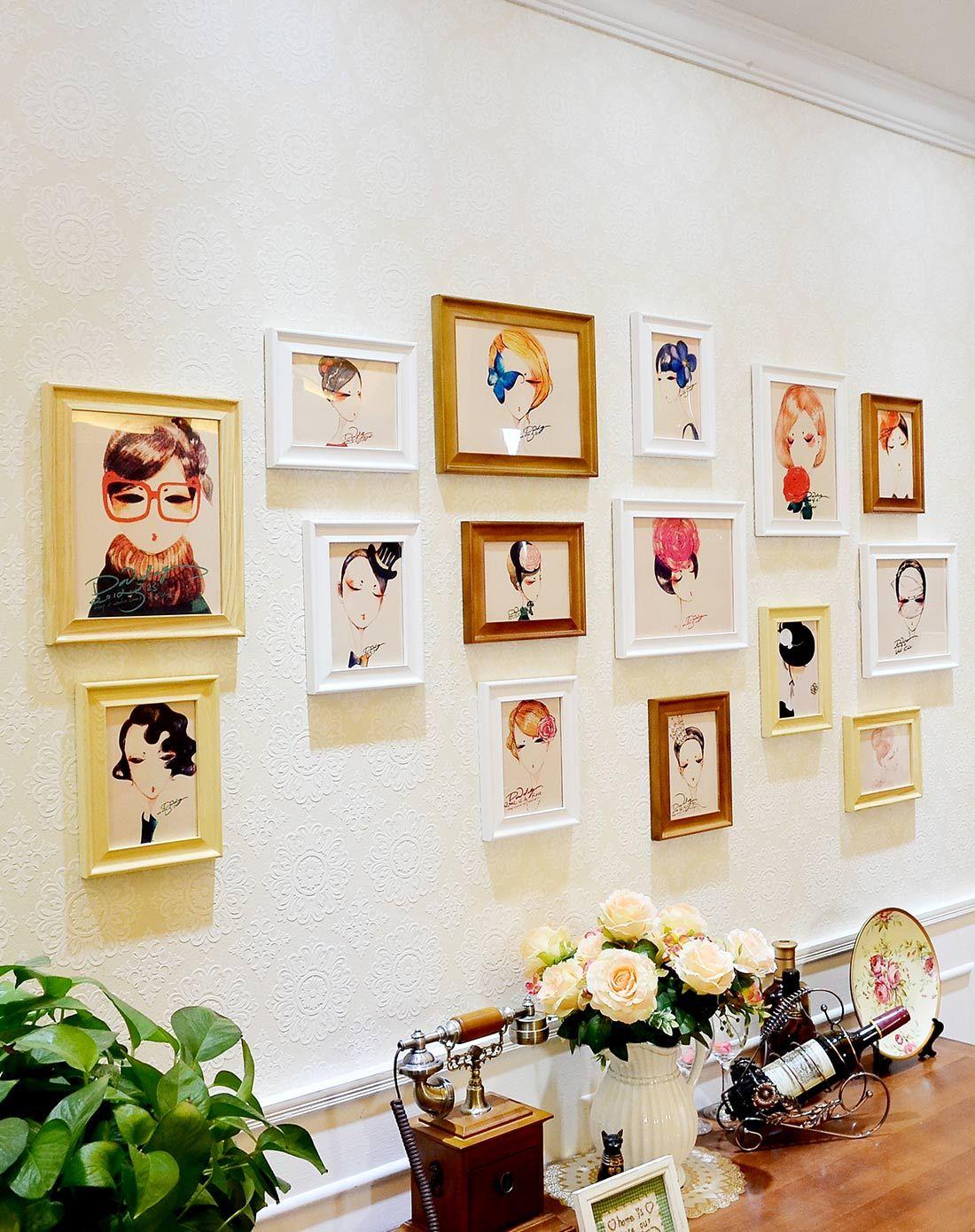 时尚欧式客厅照片墙