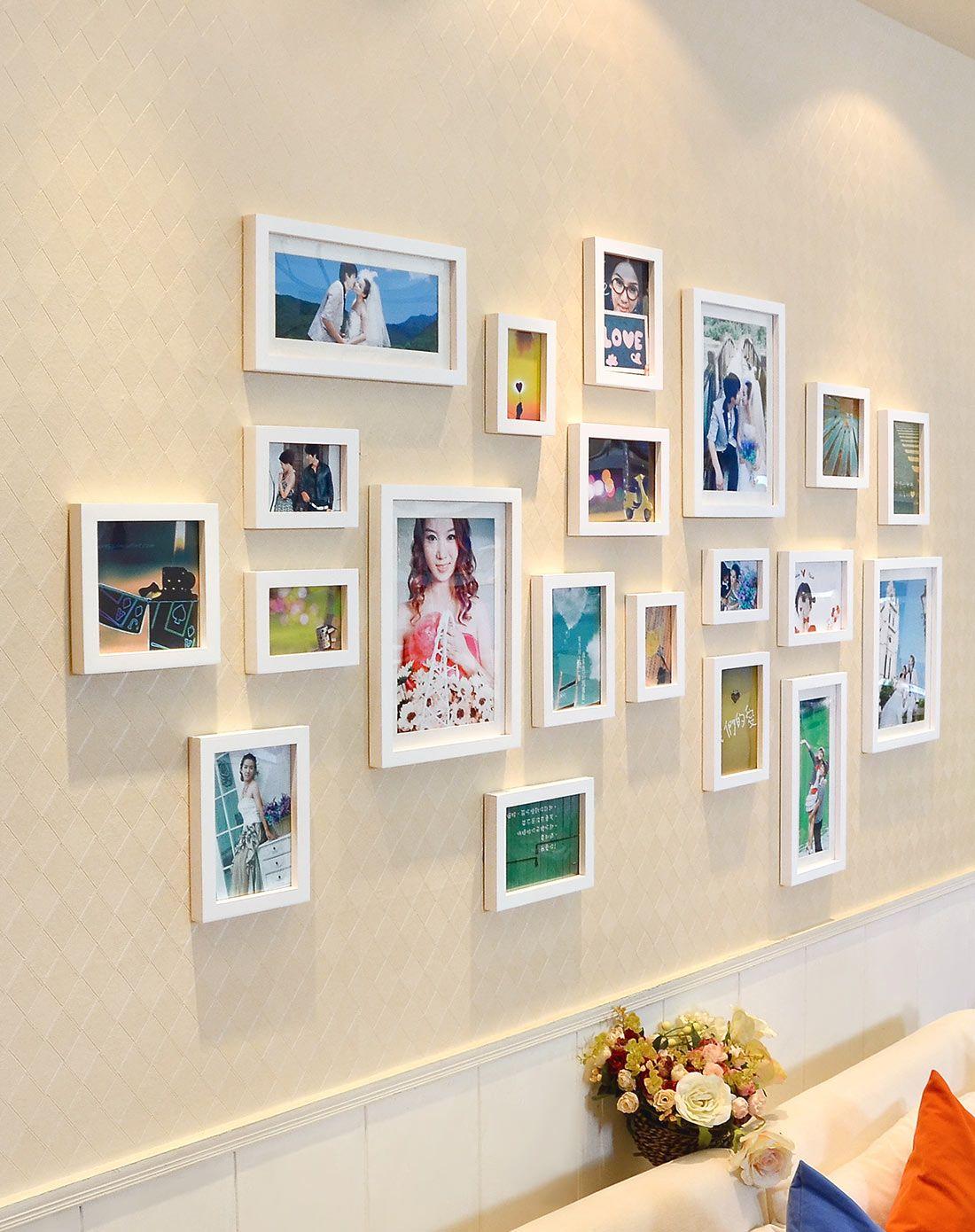 适合生活照照片墙大墙面相框墙