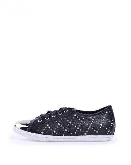哈森harson集团品牌女鞋卡文15年新款黑色羊皮革浅口5图片