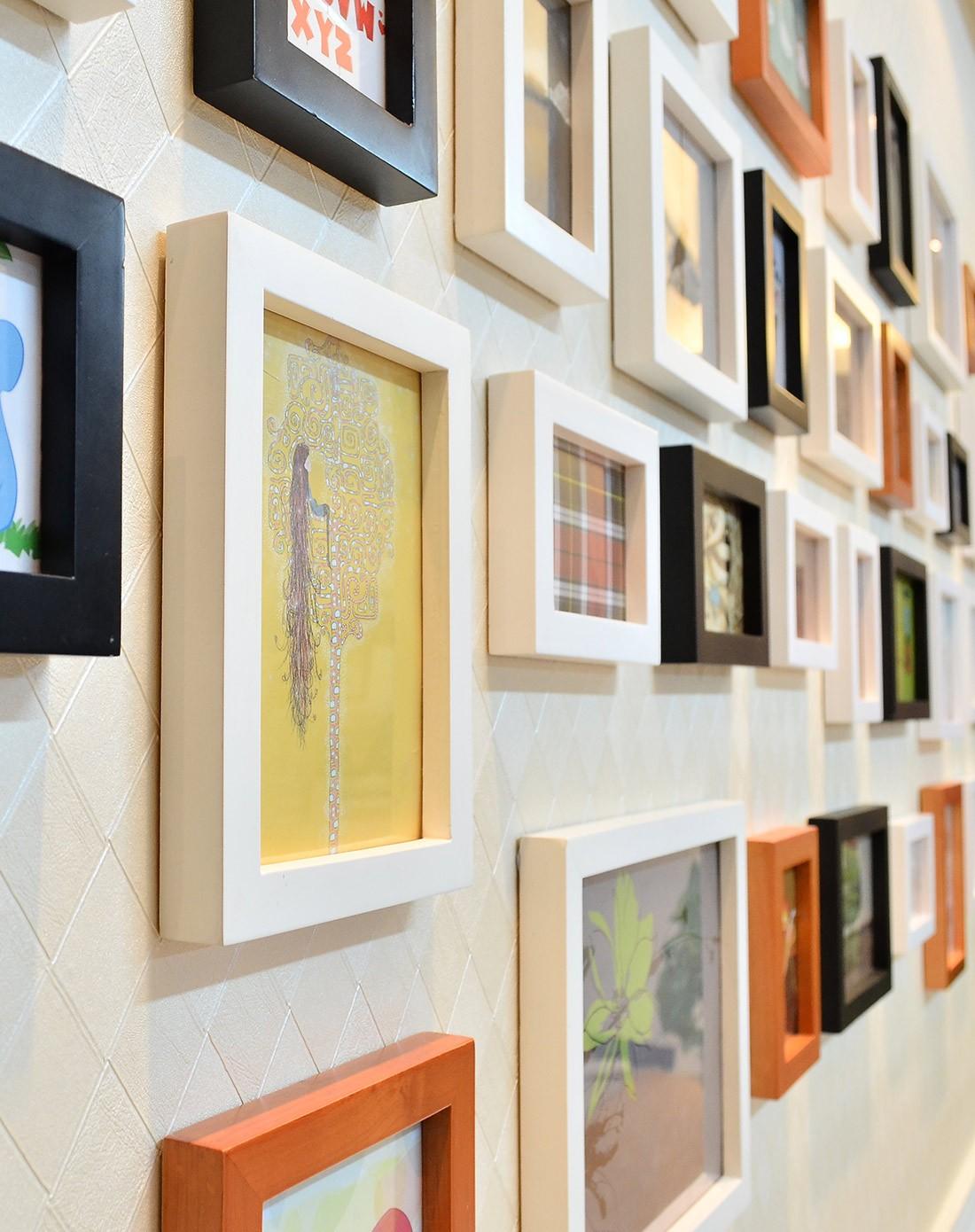 梓晨照片墙专场38框超大墙面欧式风格黑白胡组合hd-3