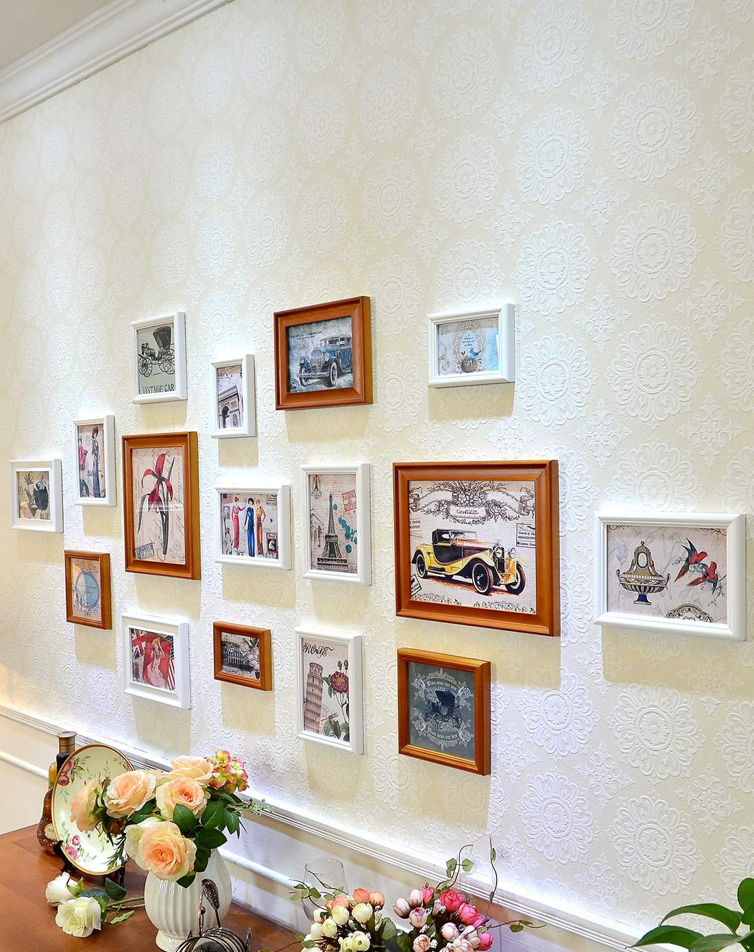 16框简约欧式小墙面照片墙