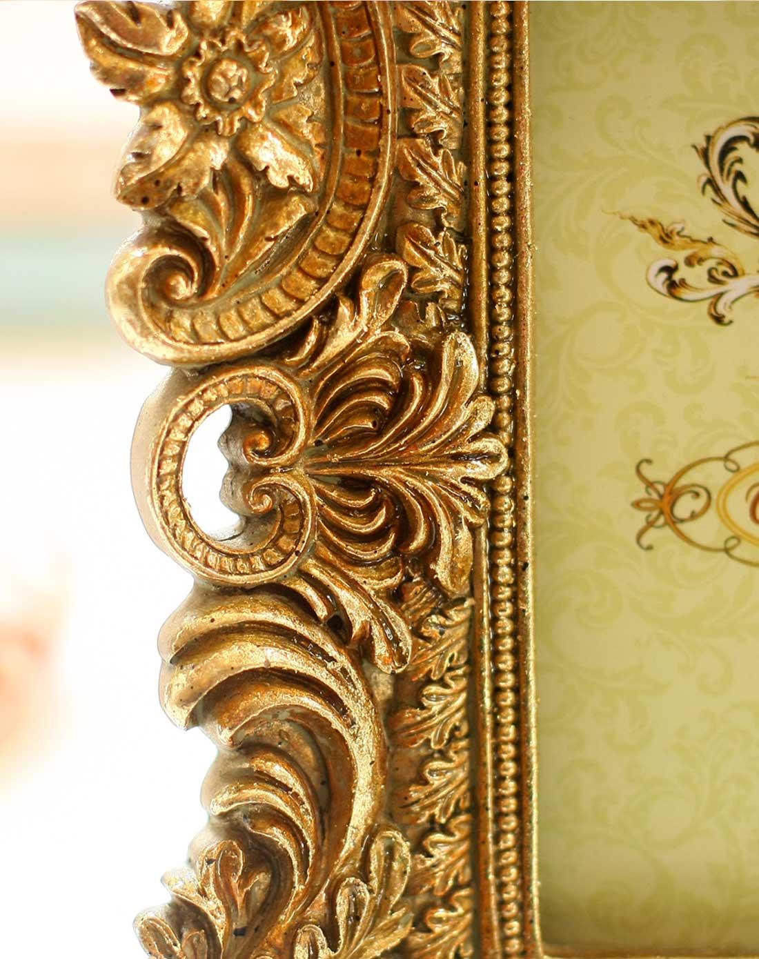 欧式高贵复古镂空金色相框6寸相框f款