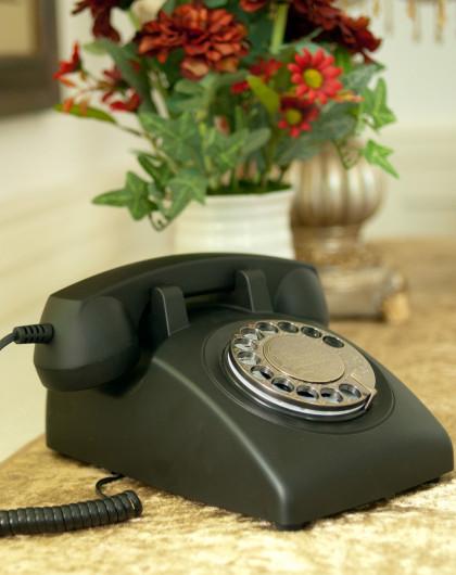 美式复古 转盘拨号电话机