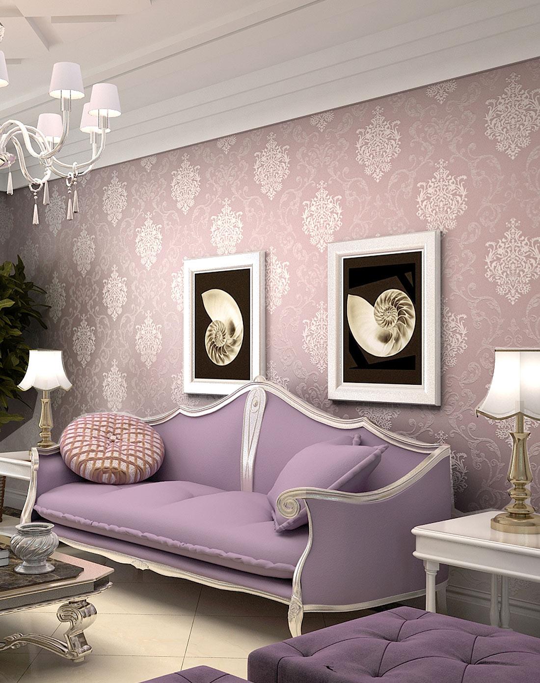 欧式壁纸 进口无纺布墙纸电视背景墙