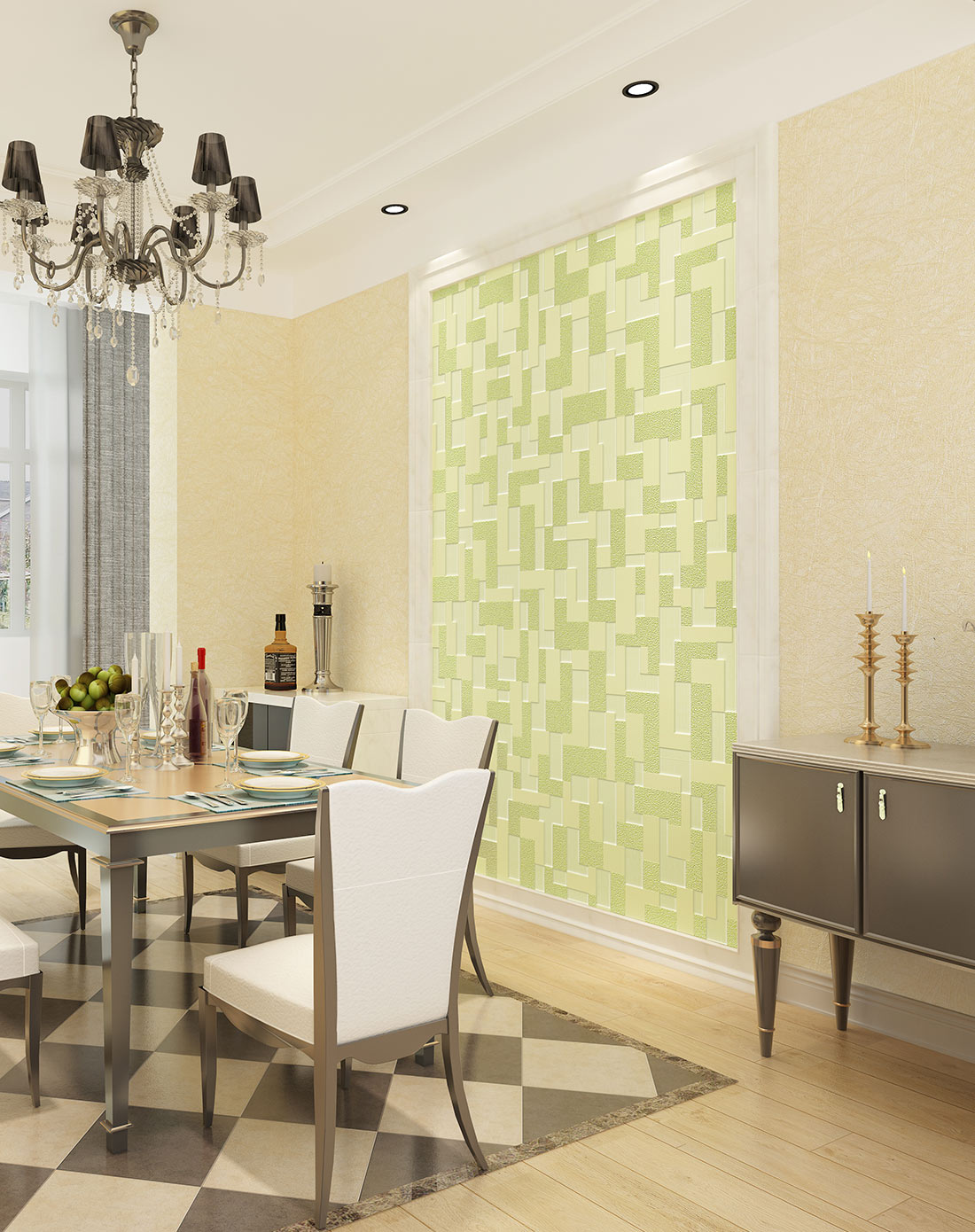 欧式墙纸3d立体蚕丝壁纸 电视背景墙图片