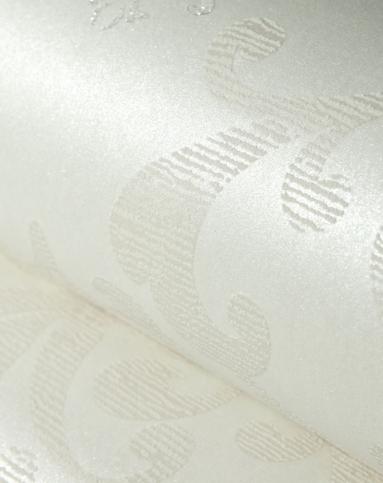 米白色3d欧式大马士无纺布墙纸