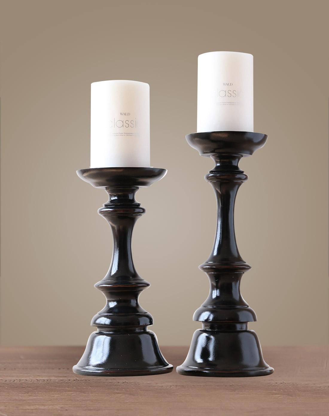 美式家居摆件树脂烛台套装图片