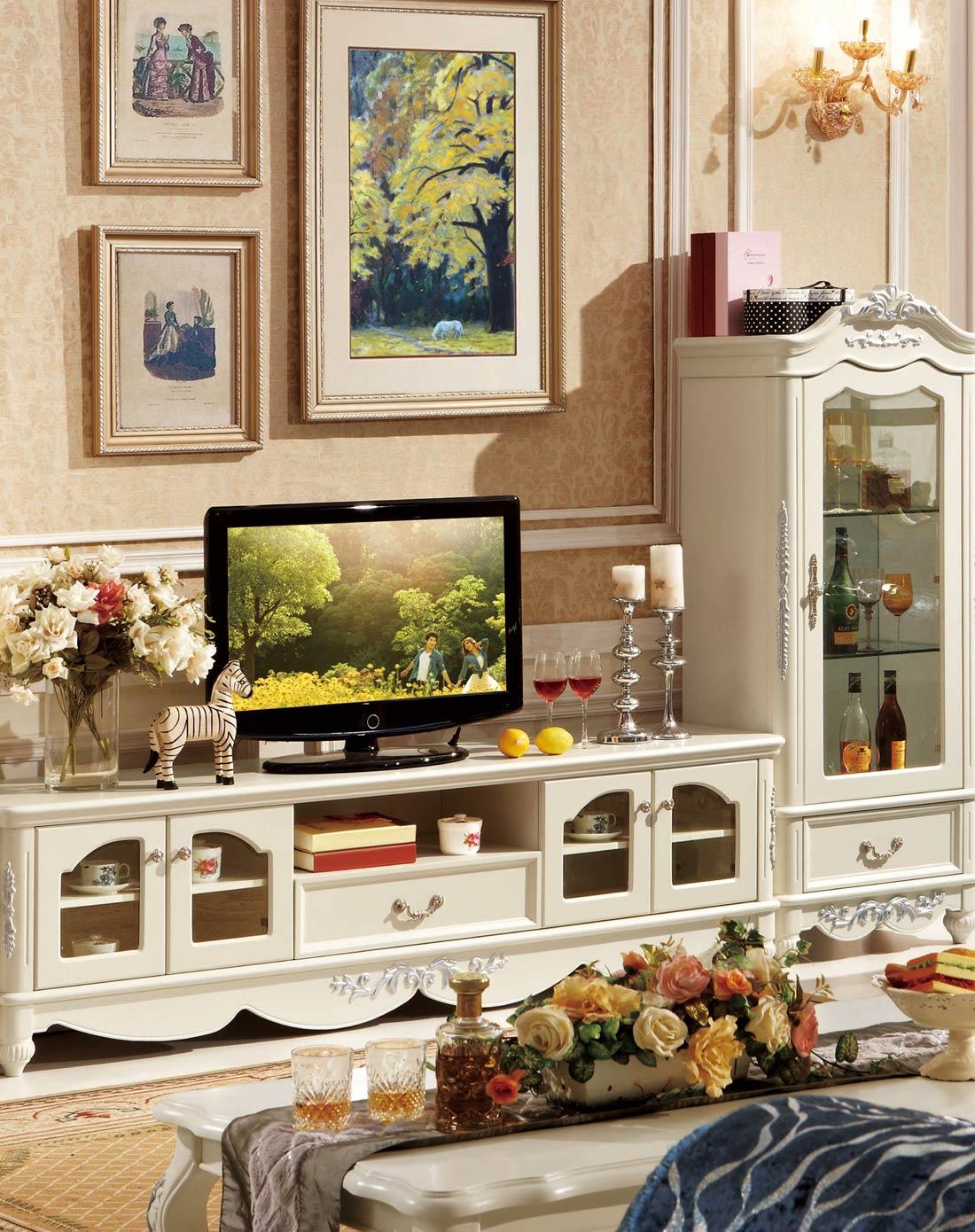 > 欧式简约电视柜 客厅卧室地柜矮柜