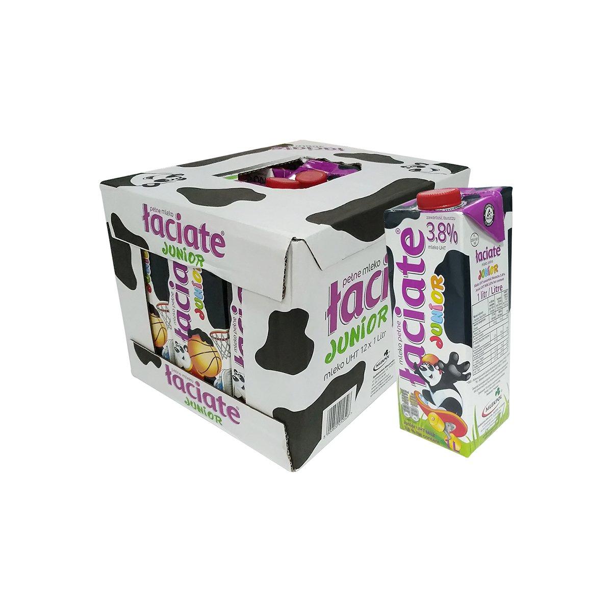 【2件起售】兰雀Laciate全脂纯牛奶 1L*12盒 3.8%fat
