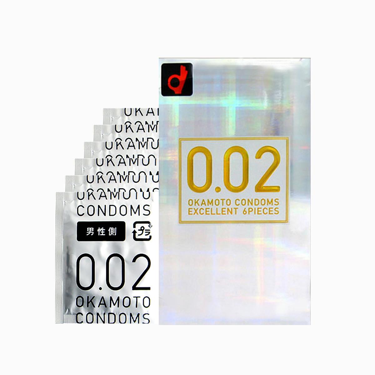 冈本日本本土版冈002白金超薄版避孕套6只装0.02mm4547691710499_唯品会