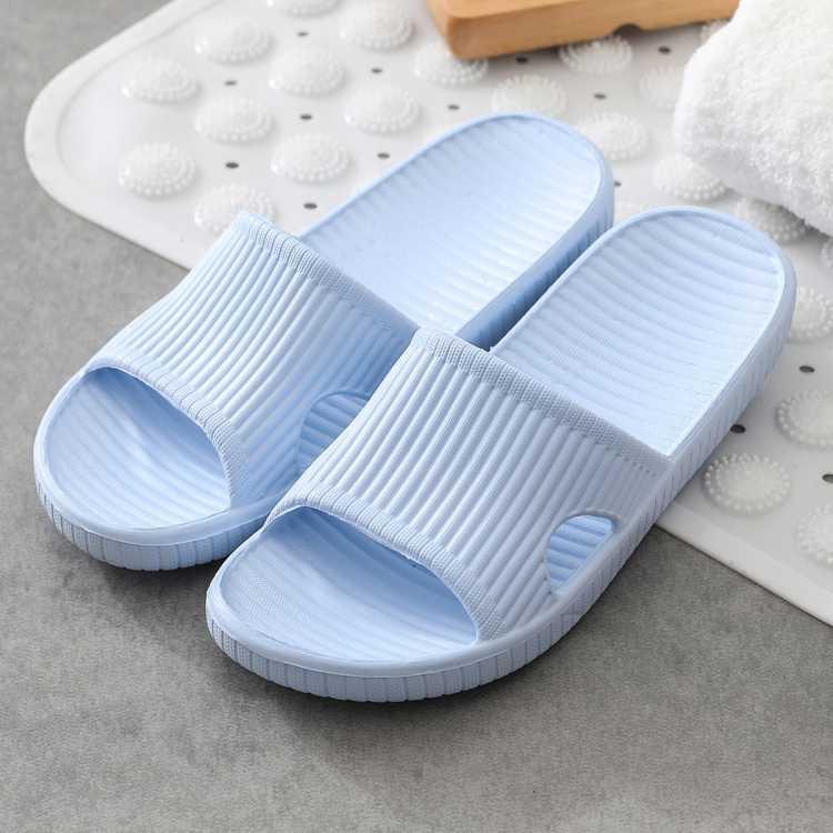 简洁轻盈 防滑软底浴室洗澡家居拖鞋女士凉拖鞋男士室内夏天长期