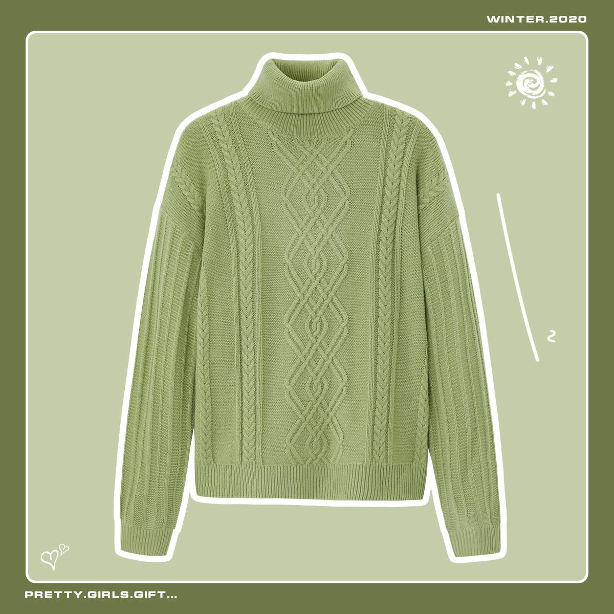 森马秋季新款针织打底衫韩版宽松外穿套头慵懒风甜美潮毛衣女