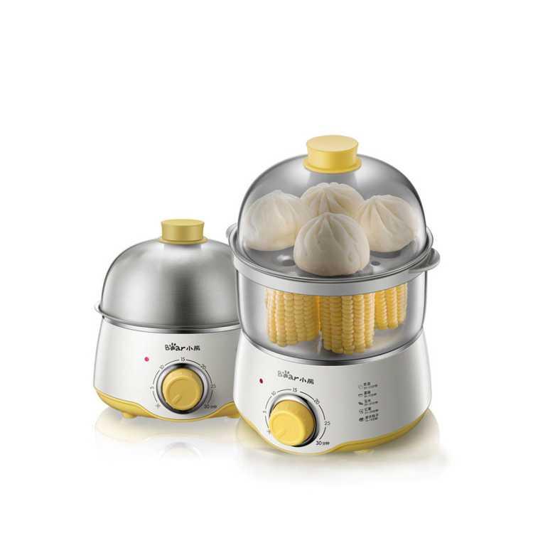 小熊迷你蒸蛋器自动断电家用不锈钢双层定时煮蛋器蒸鸡蛋羹煮蛋器
