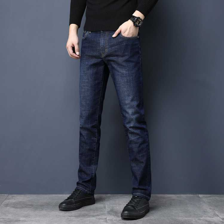 JEEP/吉普潮流时尚舒适纯色休闲男士牛仔裤