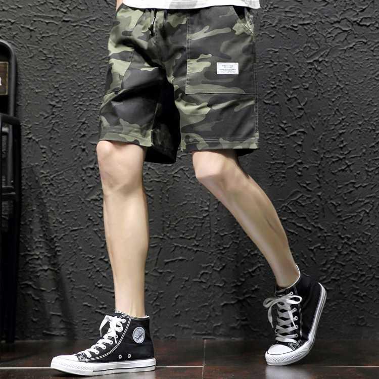 新款简约百搭运动裤子短裤薄款男士休闲裤