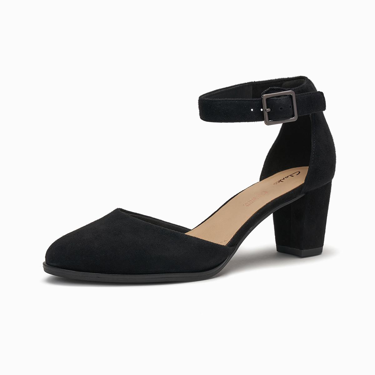 其乐女鞋2020新款Kaylin60 Strap气质高跟包头凉鞋侧空单鞋
