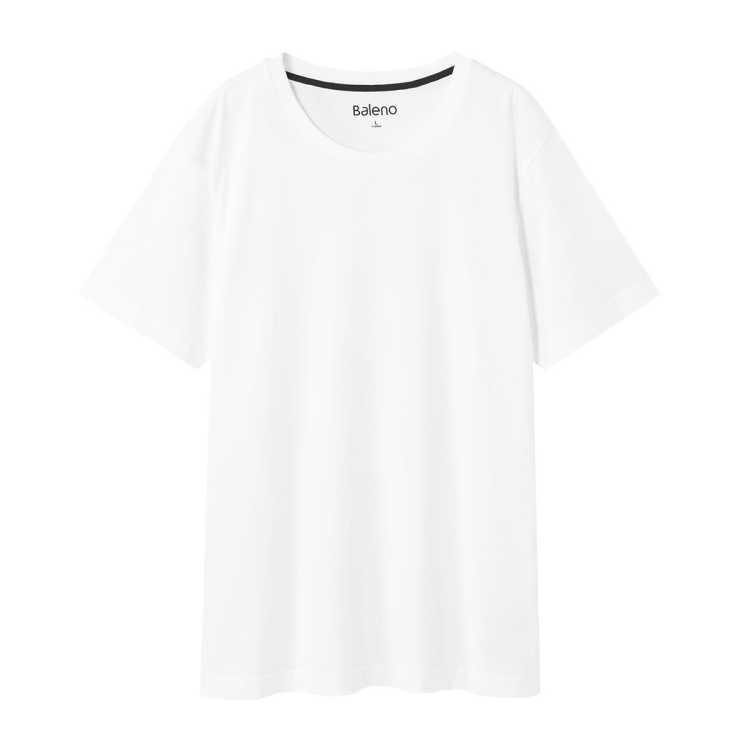 新款纯色百搭舒适圆领休闲短袖男式T恤