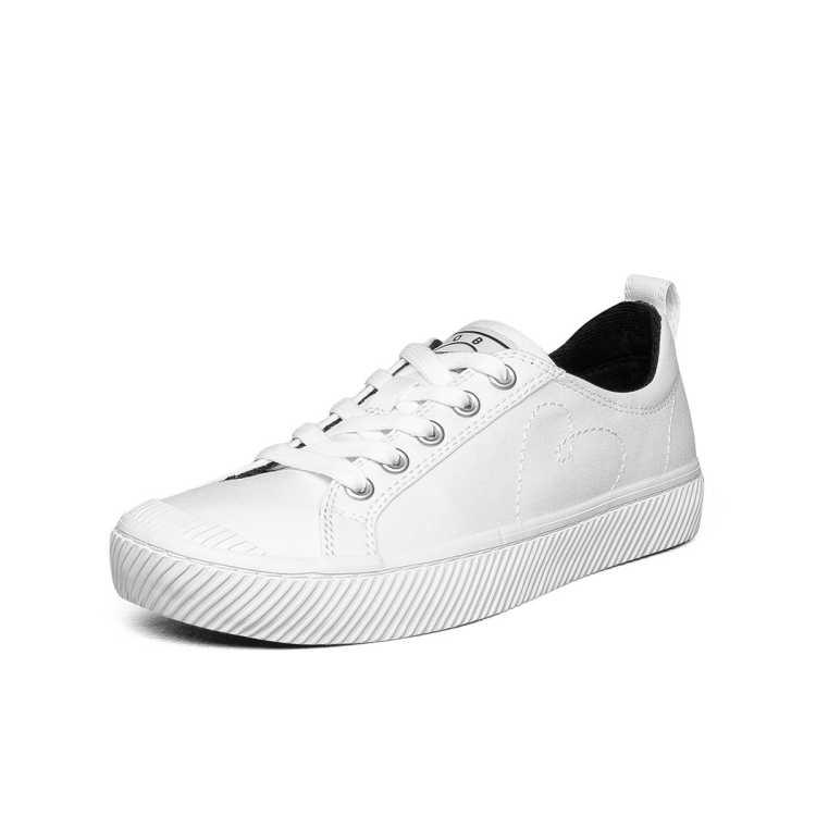 斯凯奇新品女子街拍小白鞋时尚帆布鞋女休闲鞋