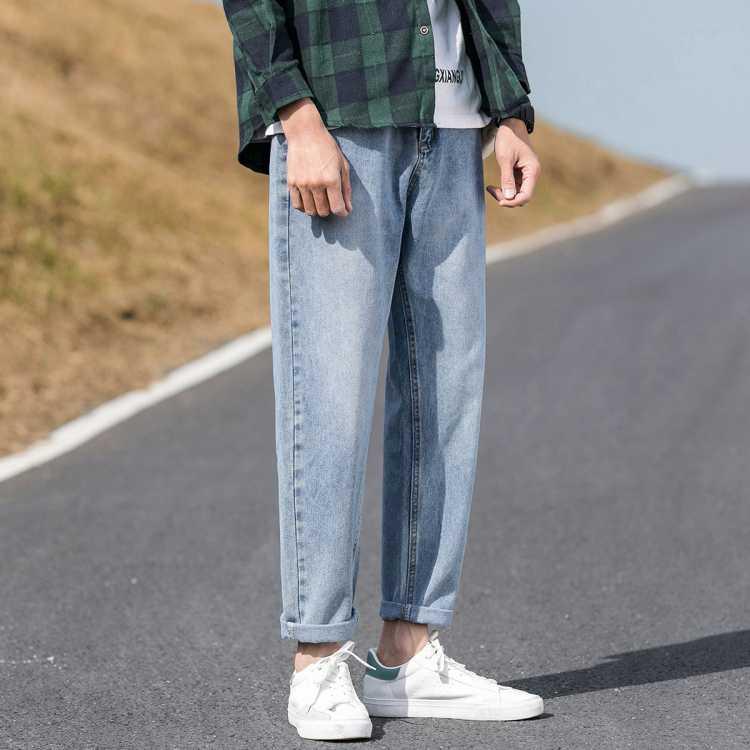牛仔裤男士牛仔裤直筒裤宽松裤子男士牛仔裤直筒裤宽松牛仔裤男