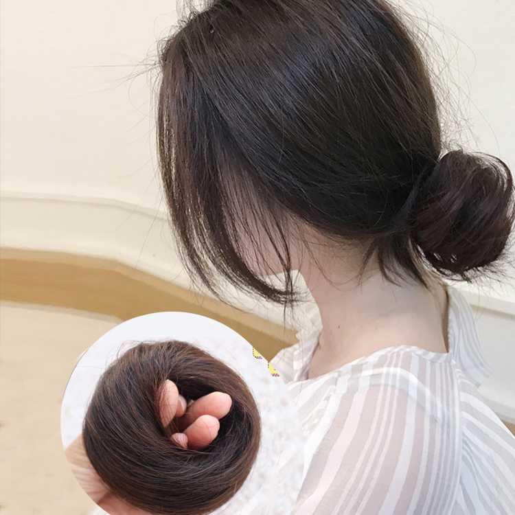 奇美拉【减龄丸子头假发圈】发饰头饰 逼真自然增加发量修颜假发