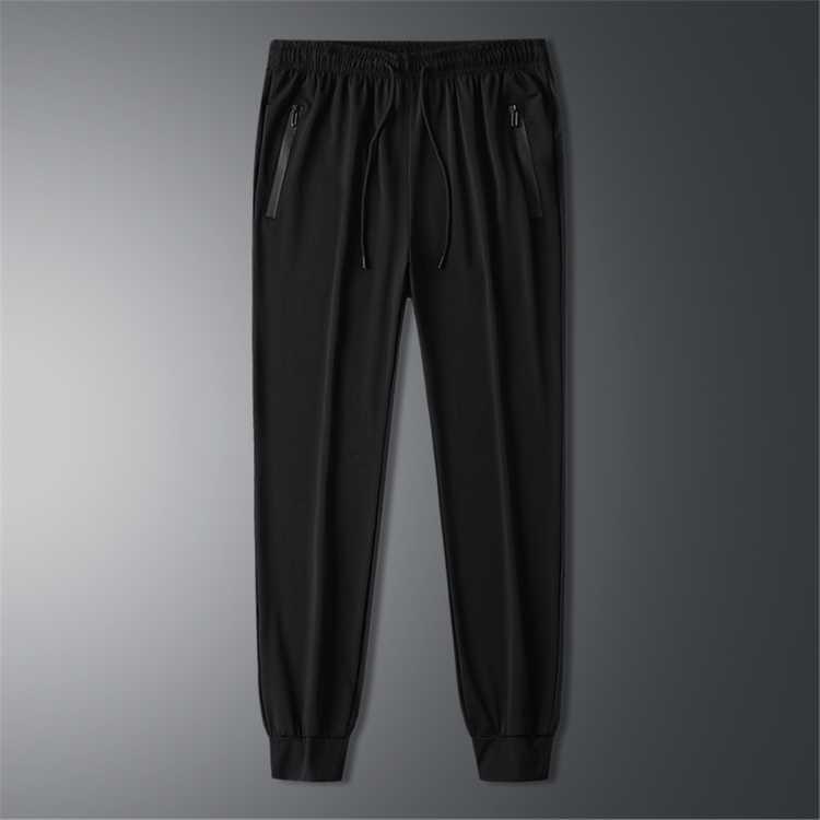 拉夏贝尔冰丝夏季薄款长裤男士休闲裤宽松大码百搭夏天速干运动裤