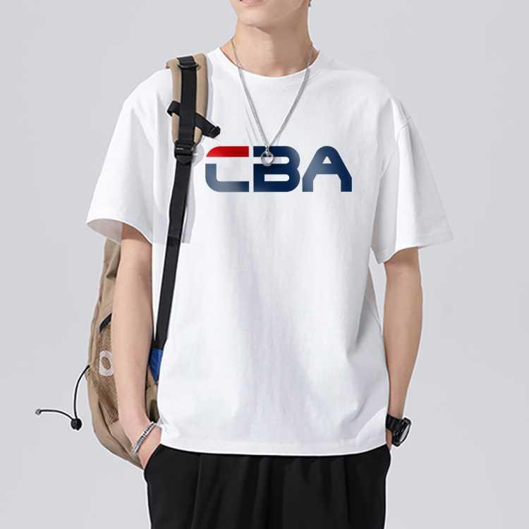【纯棉面料】夏季青少年半袖体恤宽松运动短袖t恤男国潮牌圆领丅