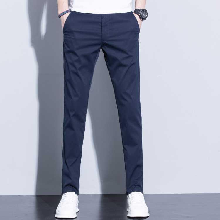 【免烫抗皱】春夏新款男士轻薄中腰舒适透气简约有型休闲裤