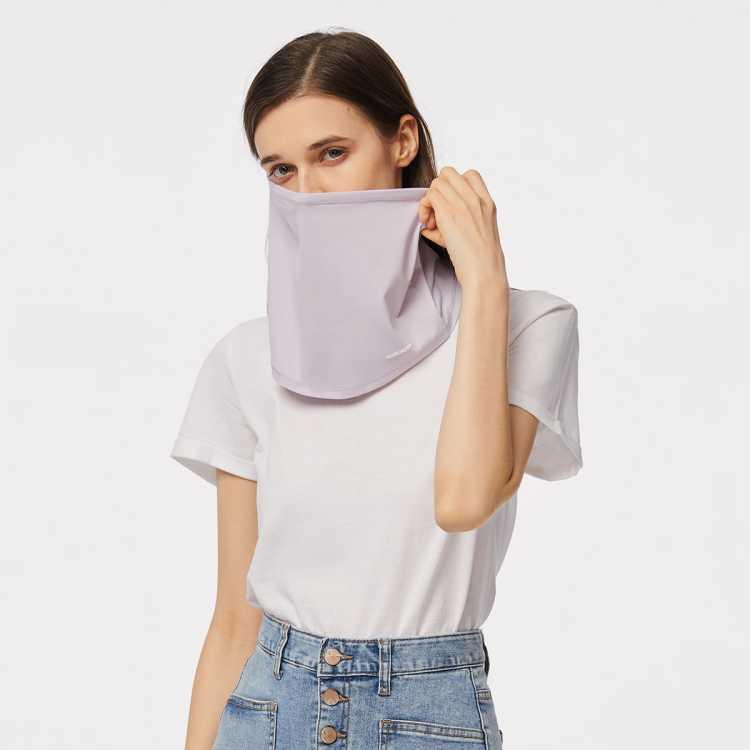 夏季新款遮脸护颈围巾面罩防紫外线冰薄质感透气防紫外线防晒围巾
