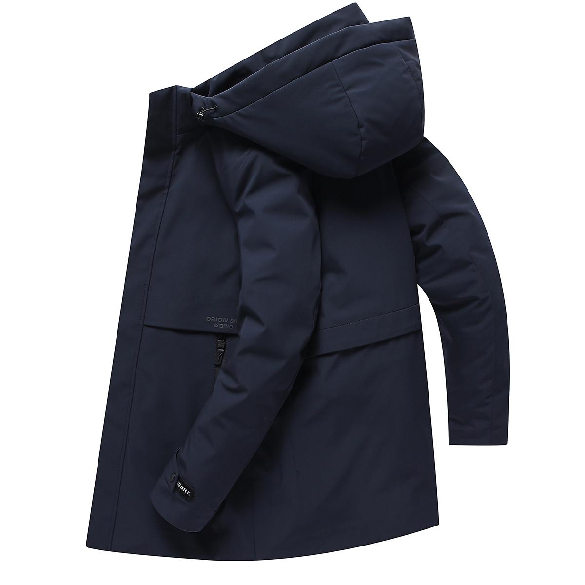 【可脱卸内胆】罗蒙新品首发90白鸭绒羽绒服男纯色连帽男式羽绒服
