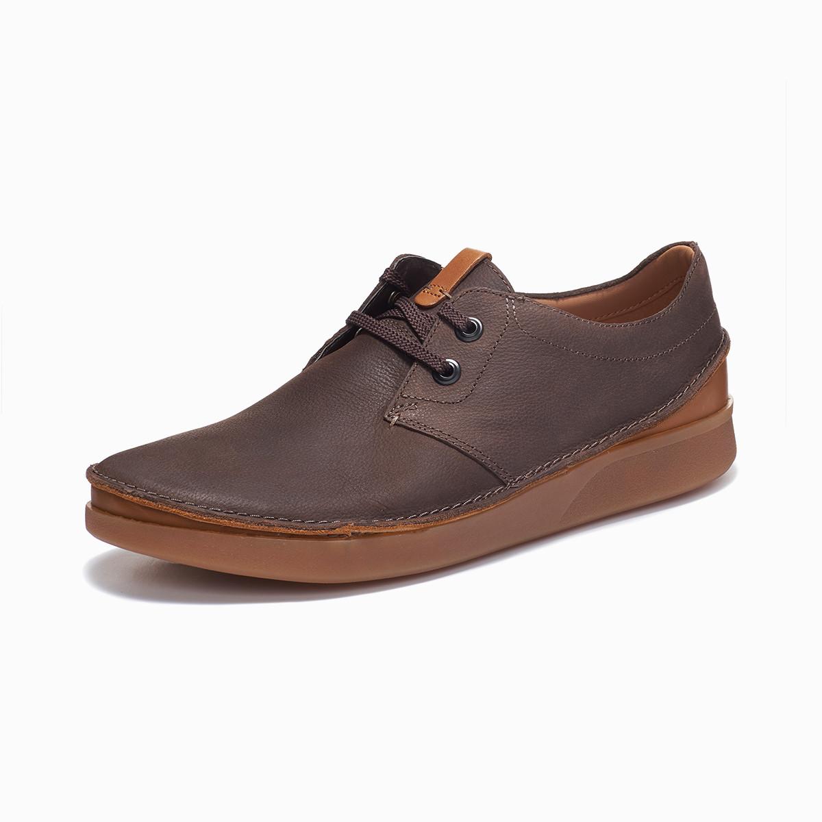其乐男鞋Oakland Lace经典复古休闲平底牛皮鞋男士潮流板鞋