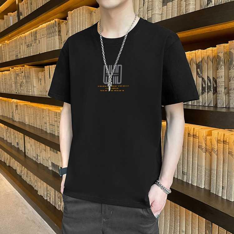 【100%棉】夏季新品时尚休闲男式体恤情侣打底衫男士t恤短袖