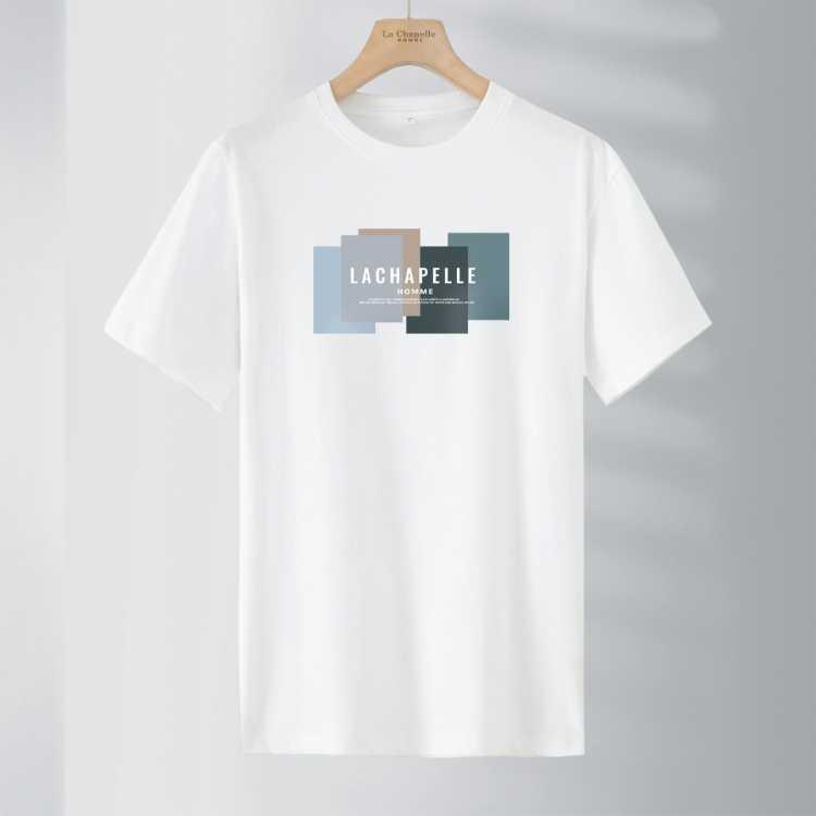 【微弹修身】夏季百搭时尚休闲男式t恤LOGO短袖T恤男