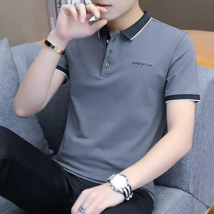 【商务休闲】夏季新款轻薄男士POLO衫短袖舒适透气刺绣t恤